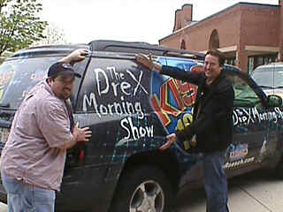 Drex and Petie from the KISS FM 103.5