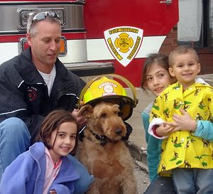 Rex, canine star of 'Firehouse Dog'